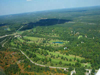 Aerial view from Deer Run Golf Course at Lakes of the North