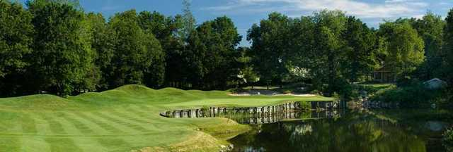A view of hole #7 at Crystal Springs Golf Club.