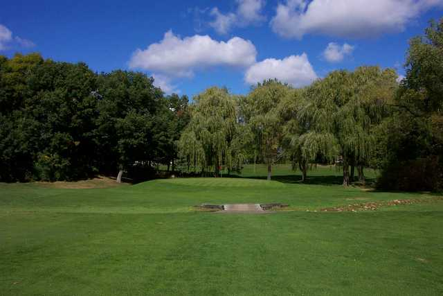 A view of the 3rd green at Brightwood Hills Golf Course