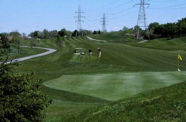 A view of a green at Red Oaks Golf Course