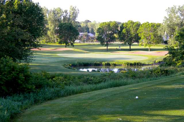 A view from tee #17 at Manitou Ridge Golf Club