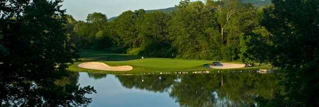 Great Gorge at Mountain Creek Resort: View from Quarry Nine's sixth hole