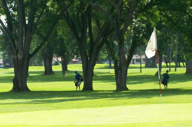A sunny day view of a hole at Brookland Park Golf Course