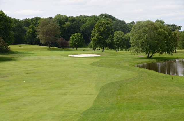 A view of a fairway at Dellwood Country Club