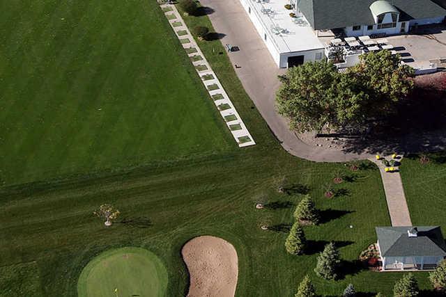 A view of the driving range at Crystal Lake Golf Club