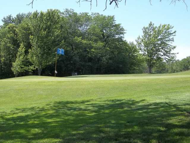 View of the 2nd green at Lake View Golf Club
