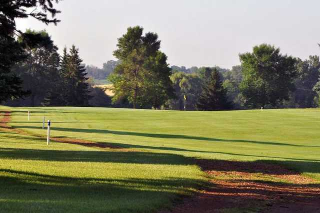 A view of fairway #7 at Shamrock Golf Club