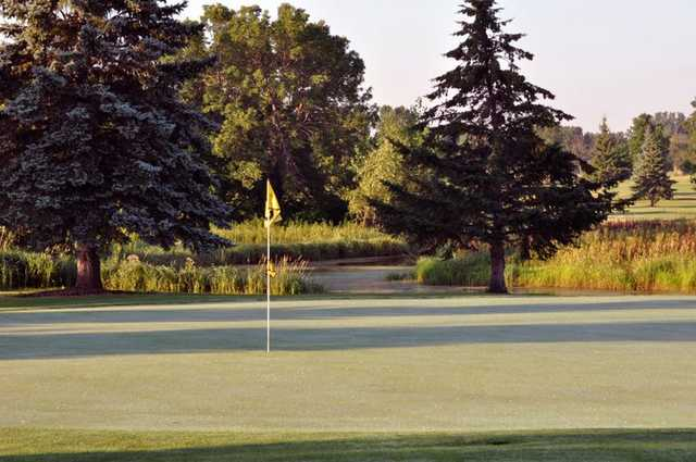 A view of the 13th green at Shamrock Golf Club