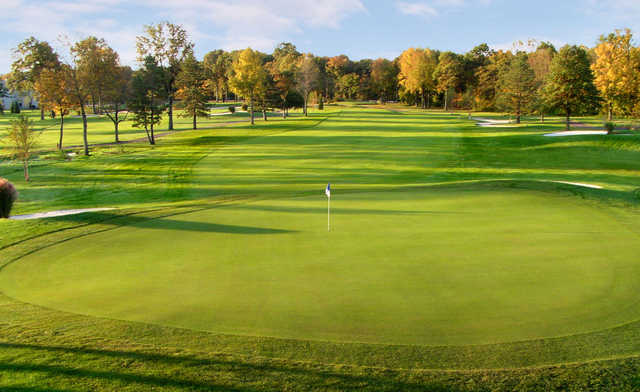 A view of hole #13 at Meadows Golf Course