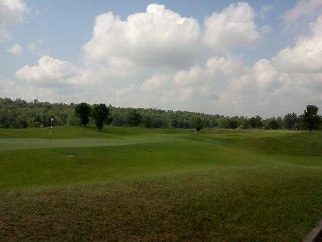 A view of the 8th green at Rivercut Golf Course