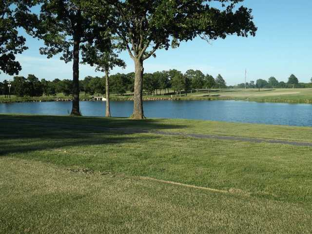 A view over the water from Whispering Oaks Golf Course