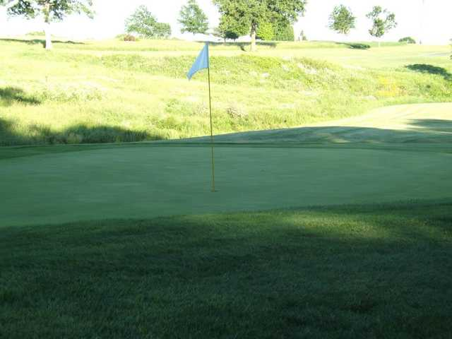 A view of a hole at Whispering Oaks Golf Course