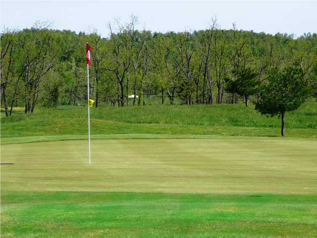A view of the 11th hole at Honey Creek Golf Club