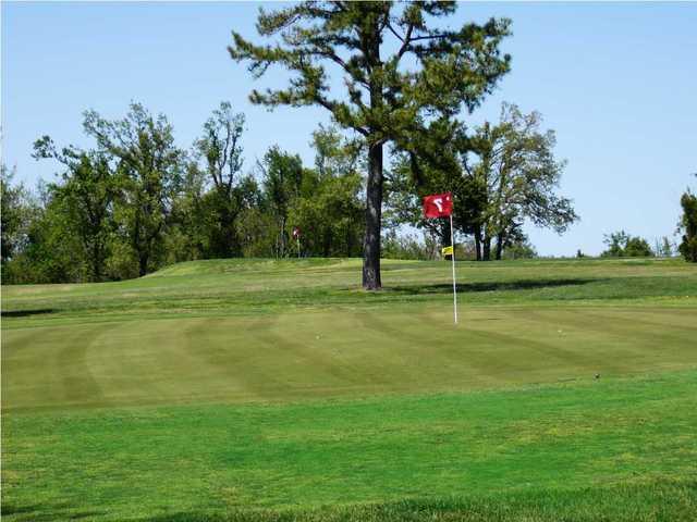 A view of green #7 at Honey Creek Golf Club