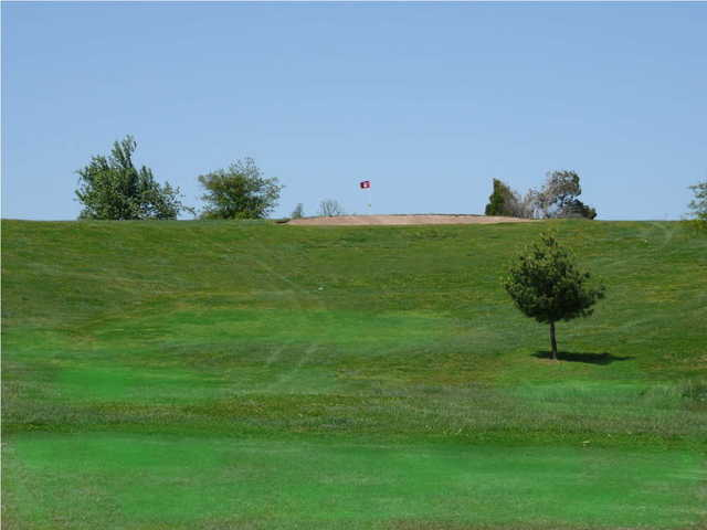 A view from the 2nd tee at Honey Creek Golf Club