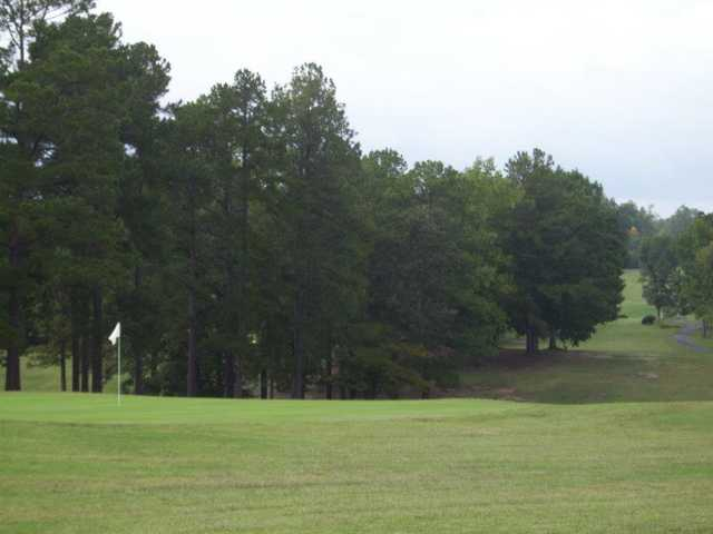 A view of the 18th hole at South Granville Country Club