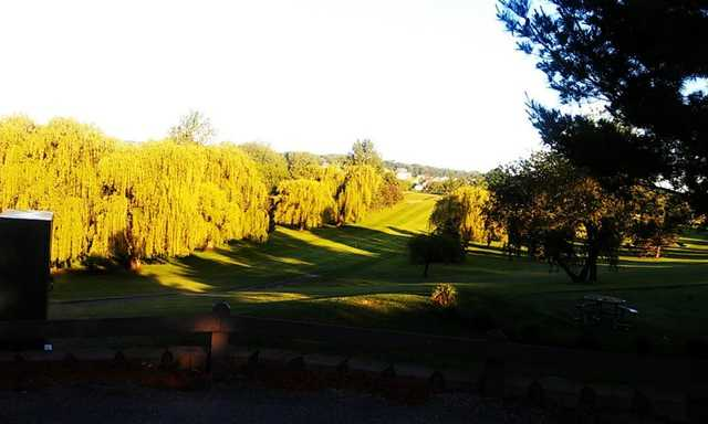 A sunny day view from Willow Creek Golf Course