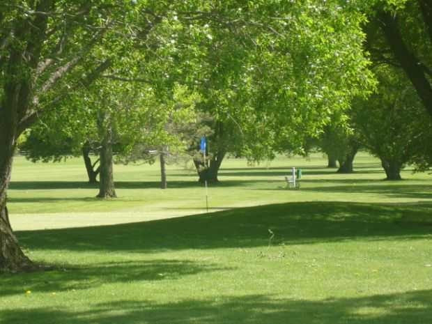 A view of a hole at Willow Creek Golf Course