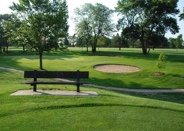 A view of a green at College Heights Country Club