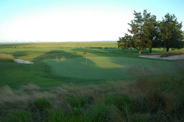 A view of the 17th green at Atlantic City Country Club
