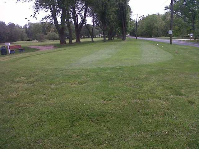 A view of a tee at Latona Country Club