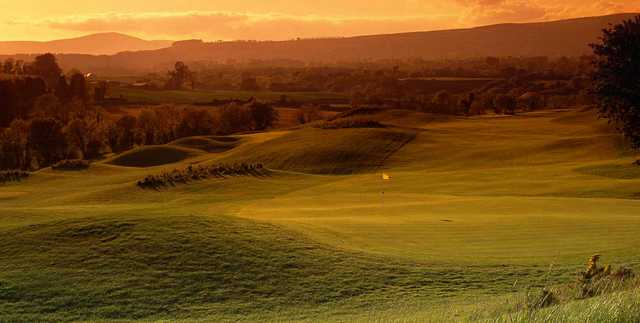 Sunset over Heath Golf Club at Druids Glen Golf Resort