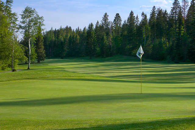A view of a hole at Meadow Lake Golf Resort