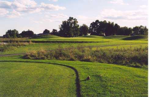 A view from a tee at Etna Acres Golf Club