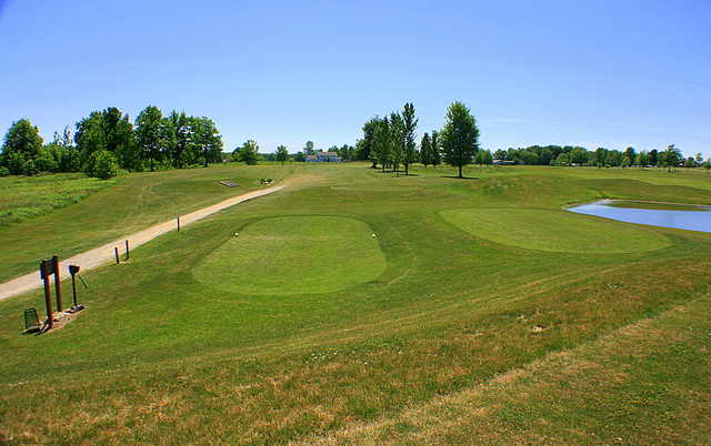 A view of a tee at Windy Hill Golf Course