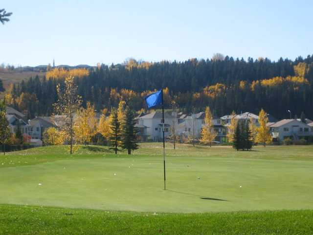 A view of a green at Cochrane Golf Club