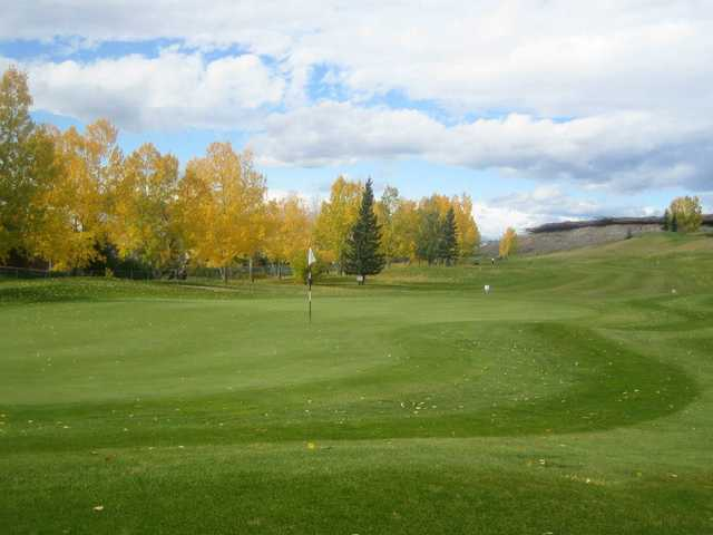 A view of a hole at Cochrane Golf Club
