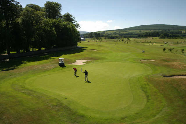 A view from East Course at Powerscourt Golf Club
