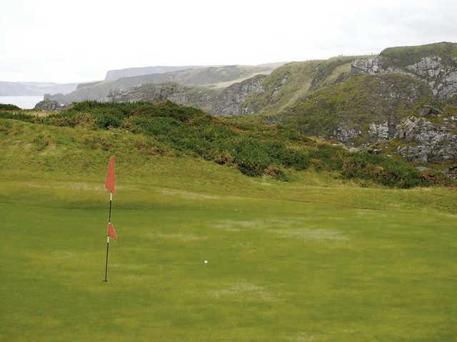 A view of a green at Royal Tarlair Golf Club