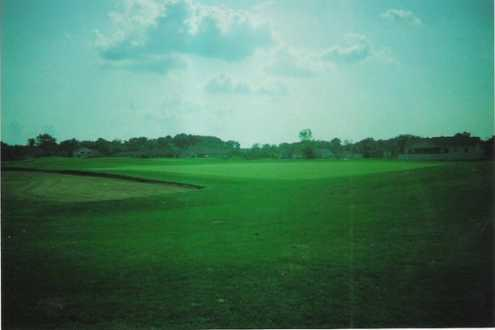 A view of the 12th green at Duck Creek Golf Course
