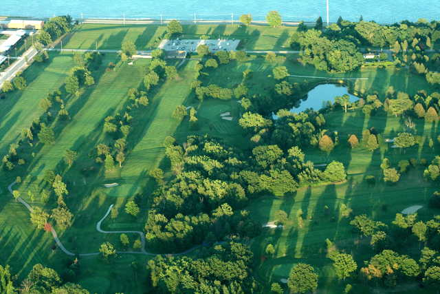 Aerial view of Marysville Golf Course
