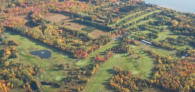 Aerial view of the Michigan Tech Portage Lake Golf Course