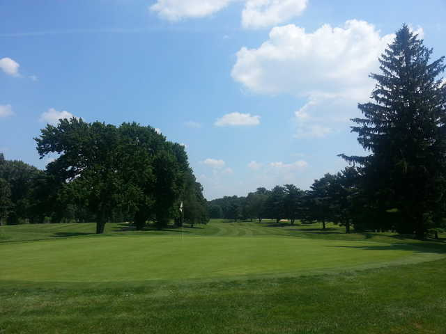 A view of a hole at JC Melrose Country Club