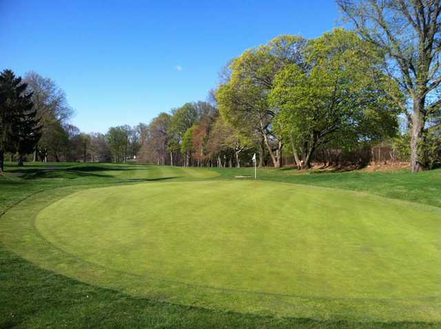 A view of the 15th green at JC Melrose Country Club