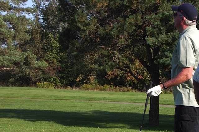 A view from a tee at Pleasant Hill Golf Course