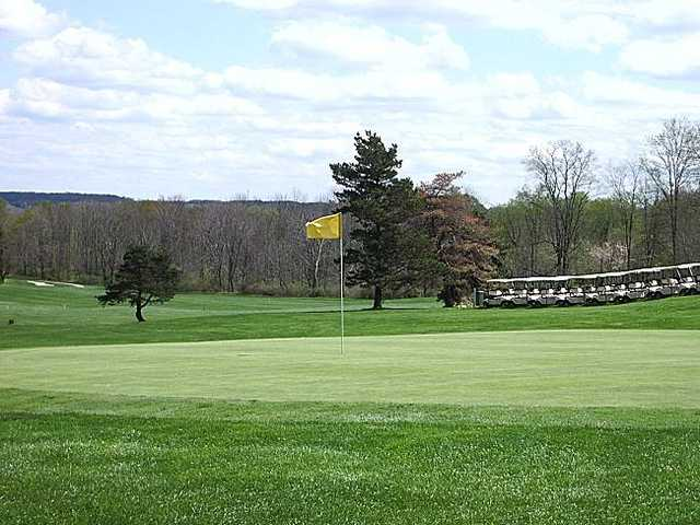 A view of a green at Pleasant Hill Golf Course