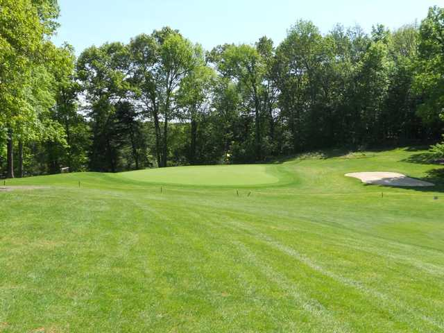 A view of the 9th green at Woodhaven Country Club