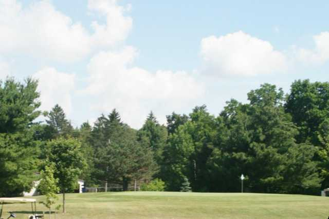 A view of a green at Pine Lakes Golf Course