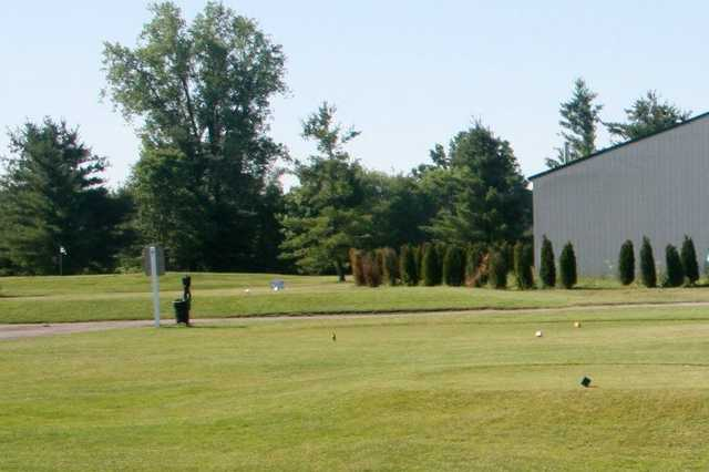 A view of a tee at Pine Lakes Golf Course