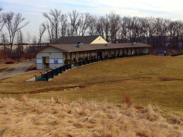 A view of the driving range tees at Tri County Golf Ranch