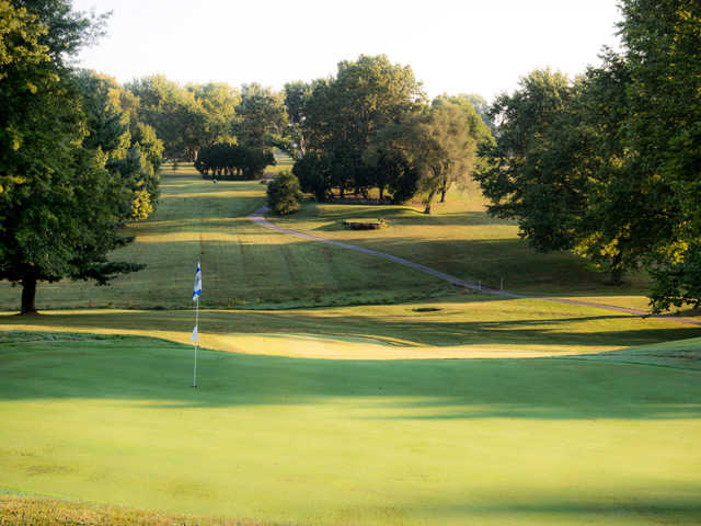 A view of a hole at Maysville Country Club