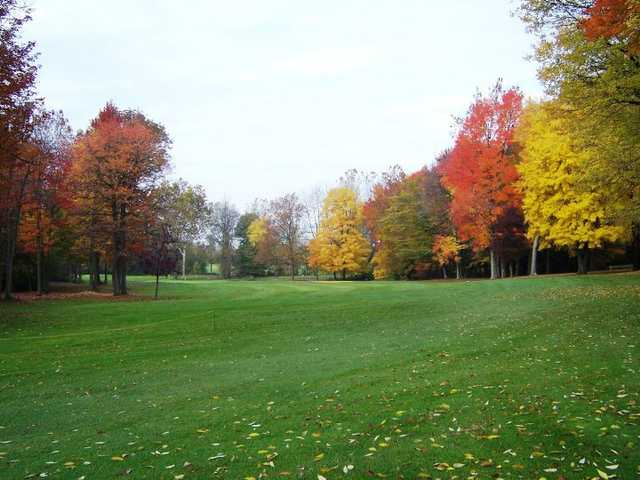 A view of the 7th fairway at White from Winding Creek Golf Course