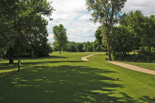 A view from a tee at Winding Creek Golf Course