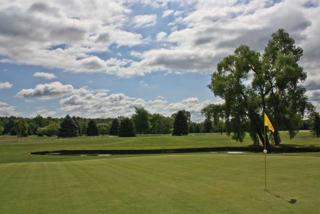 A sunny day view from Gold at Winding Creek Golf Course