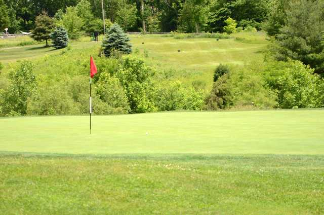 A view of a hole at Legendary Run Golf Club