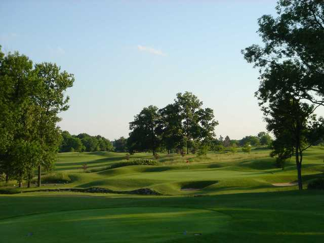 A view of the 4th green at Legendary Run Golf Club